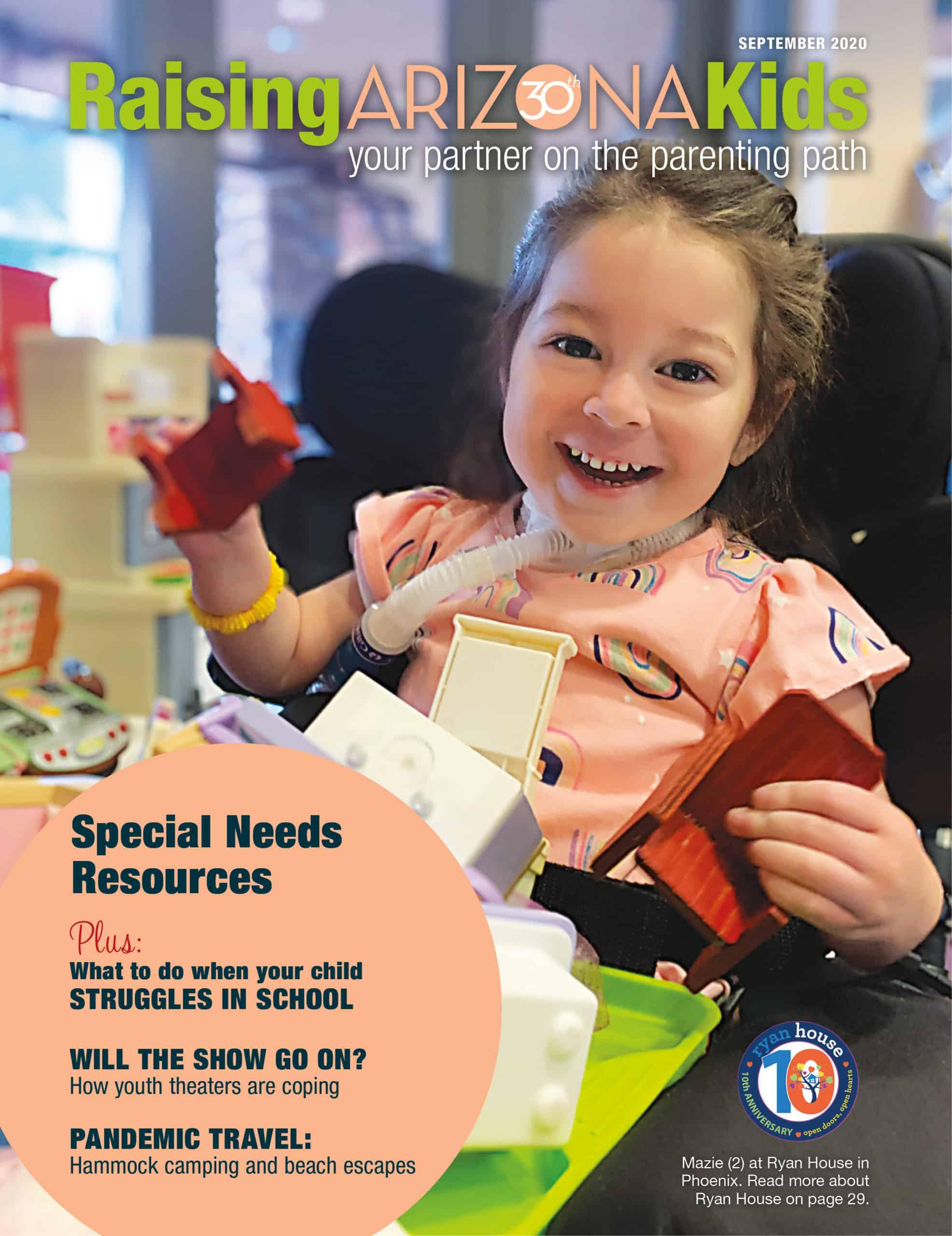 Ryan House Featured on Raising AZ Kids Magazine September Cover