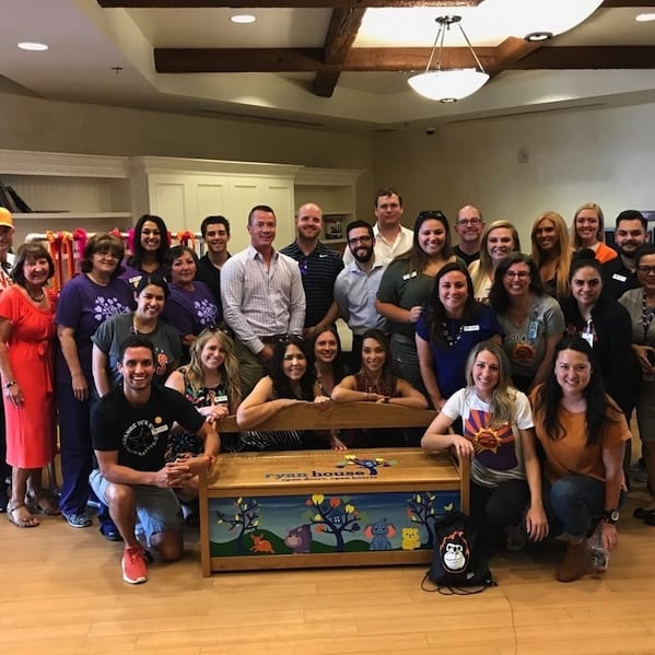 Suns Charities 88 Donates Bench in Ryan Cottor's Memory